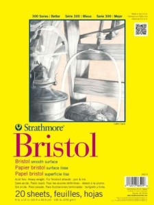 Bristol board paper is sturdy enough to withstand the smudging and erasing needed for detailed, realistic pencil portraits.