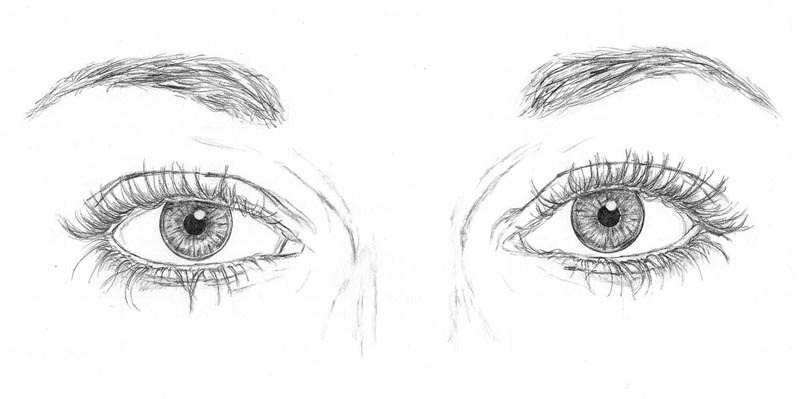 drawing the eyes