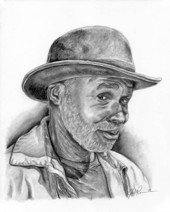 elderly man in hat