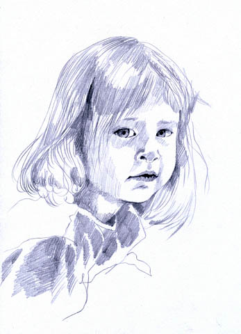 how to draw a little girl