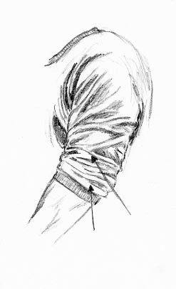 how to draw clothes spiral folds