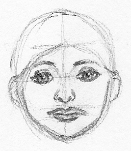 how to draw a woman facial guidelines