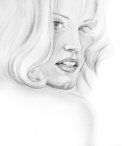 how to draw a woman hair
