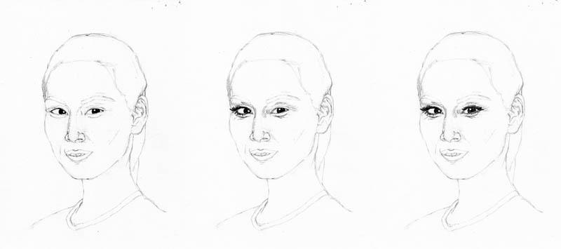 drawing lucy liu eye details