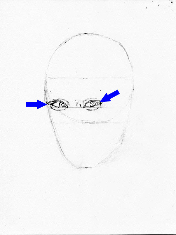 drawing lucy liu eye placement 2