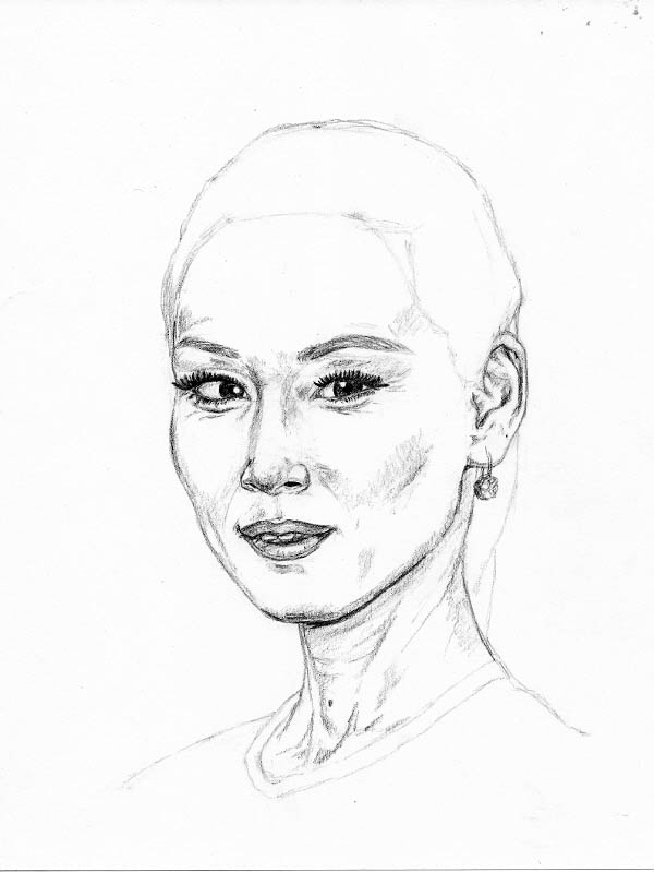drawing lucy liu face details 2