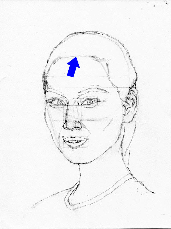 drawing lucy liu hair outline