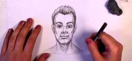 Make a Cartoonish Drawing of a Man's Face More Realistic