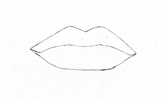 Line Art Lips : How to turn your plainly drawn lips into realistic