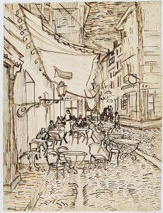 588px-Vincent_van_Gogh._Café_Terrace_at_Night._1888._Reed_pen_and_ink_over_pencil_on_laid_paper,_(65.4_x_47.1_cm)._Dallas_
