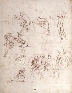 Leonardo_da_vinci,_Various_figure_studies