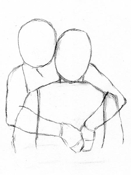 Four Easy Methods for Drawing People Hugging | Let's Draw ...