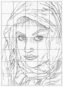 grid drawing final line drawing
