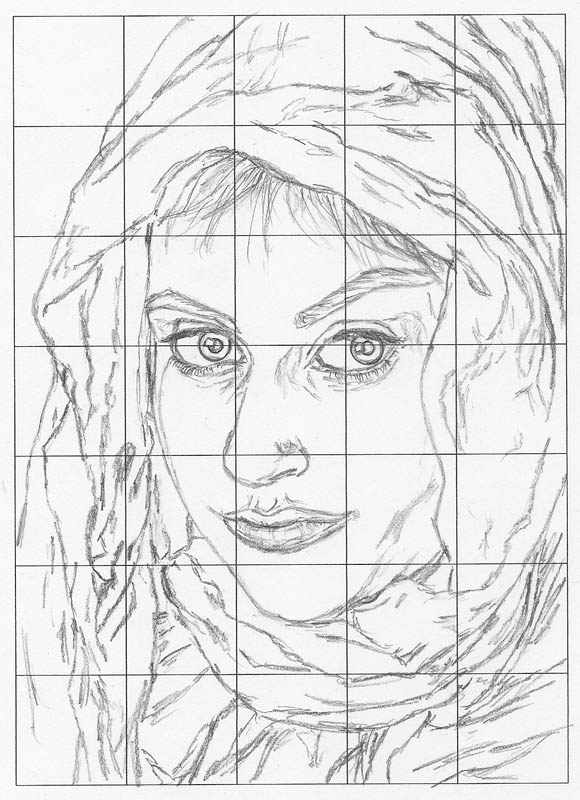 Line Drawing Using Direct Method : Grid drawing for perfect faces and forms let s draw people