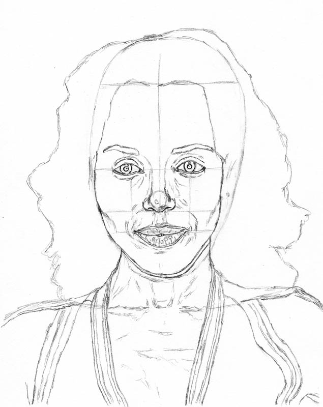 how to draw a face kerry washington below head clothes