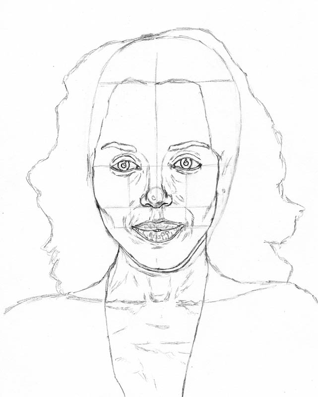 how to draw a face kerry washington below head neck