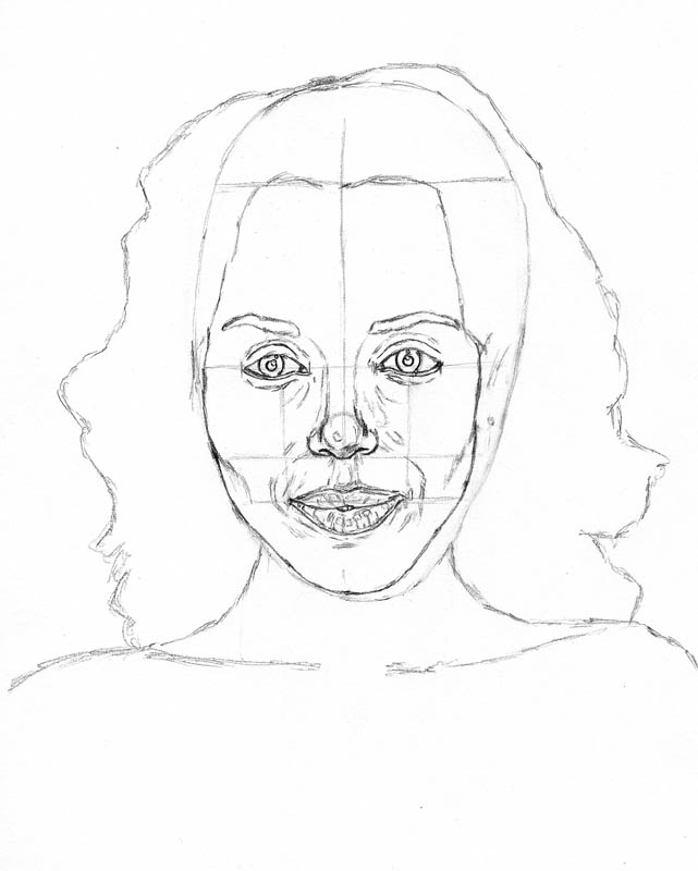 how to draw a face kerry washington cheekbones and jawline
