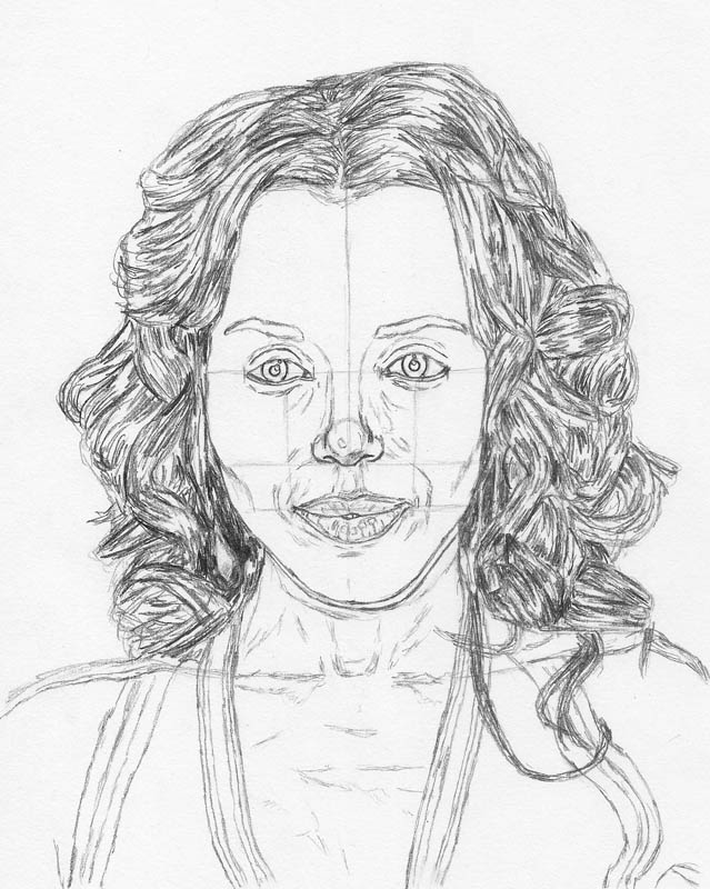 how to draw a face kerry washington hair all fill