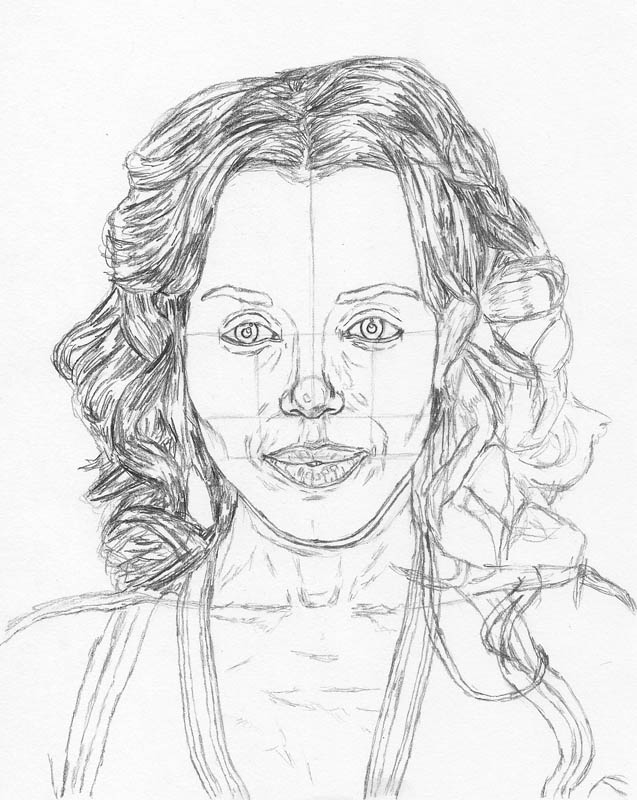 how to draw a face kerry washington hair corner fill