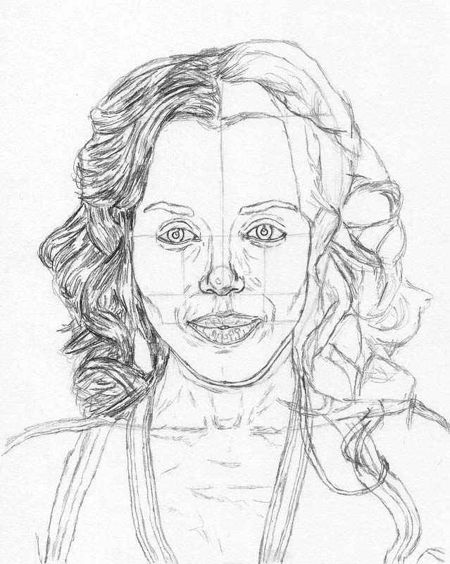 how to draw a face kerry washington hair side fill
