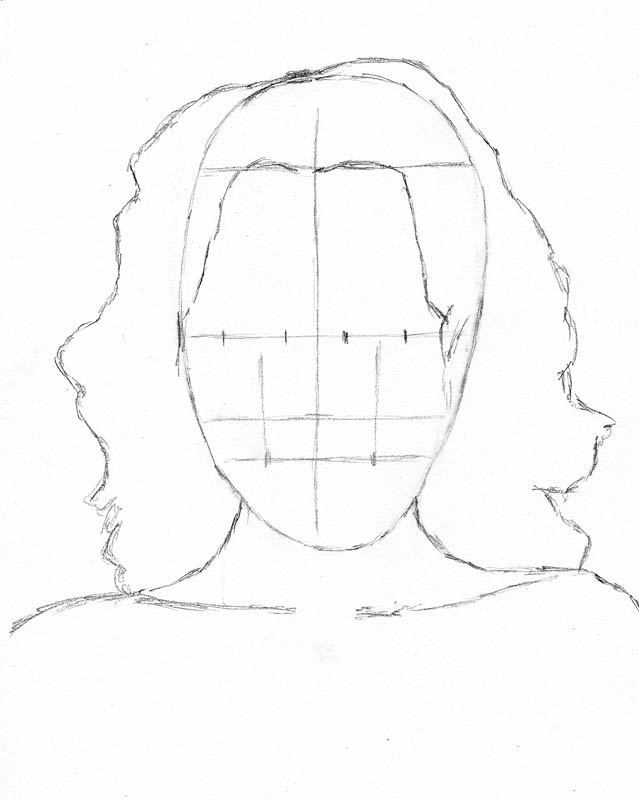how to draw a face kerry washington head hair outline