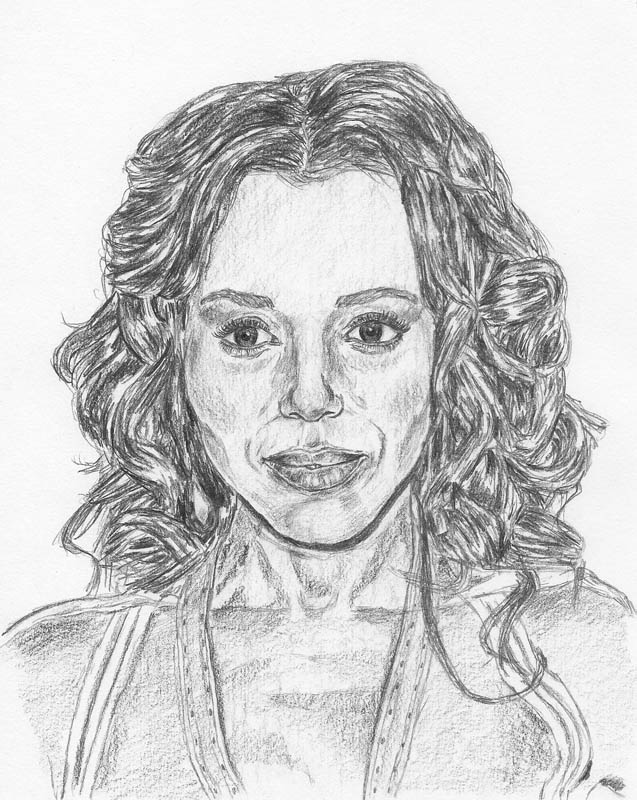 how to draw a face kerry washington