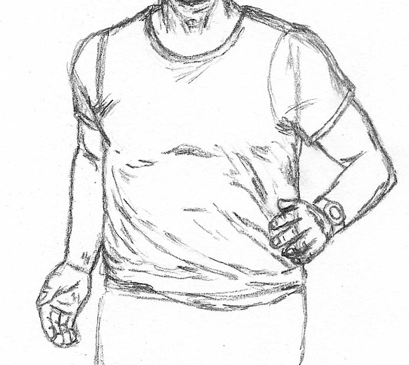 Human Running Drawing How to Draw a Man Running Arms