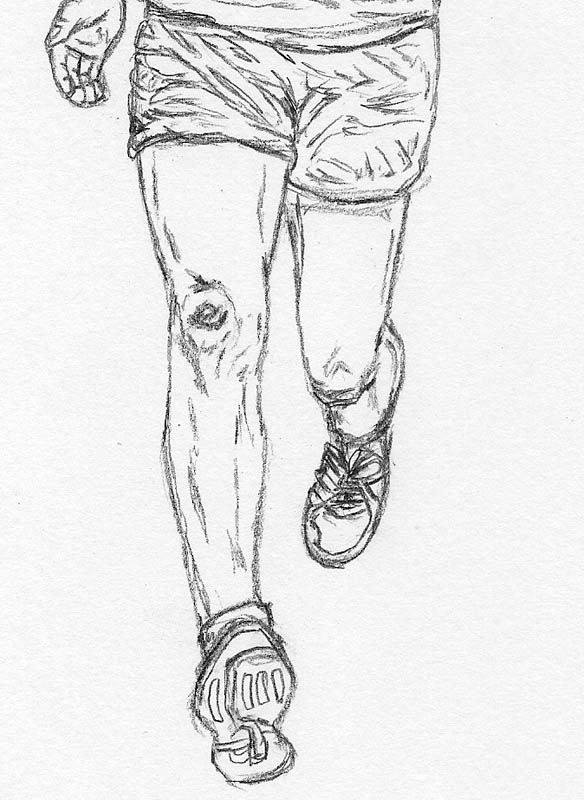Human Running Drawing How to Draw a Man Running Legs