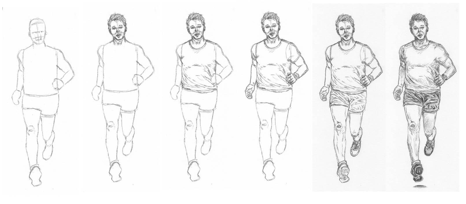 How To Draw A Man Running Let S Draw People