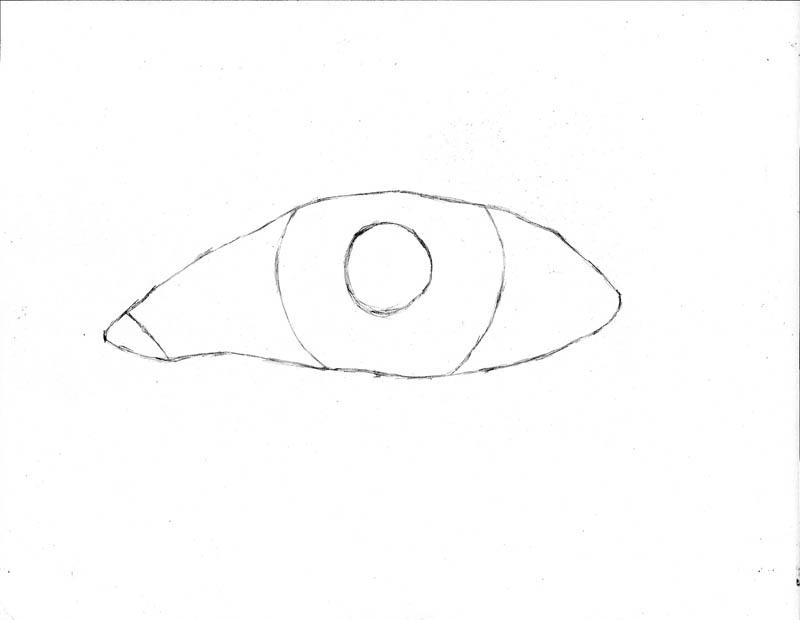 how to draw an eye 0102 iris pupil sketch