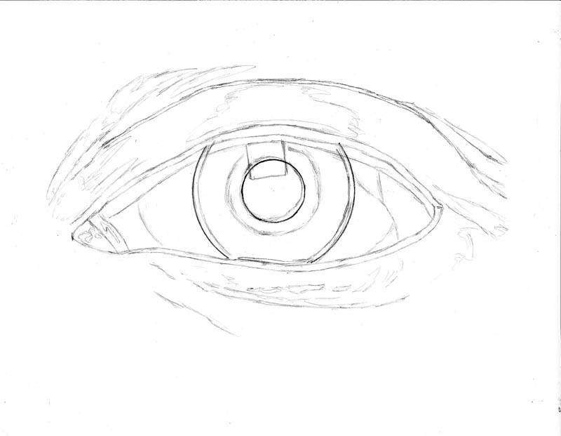 Line Art Eye : How to draw an eye realistically part of let s
