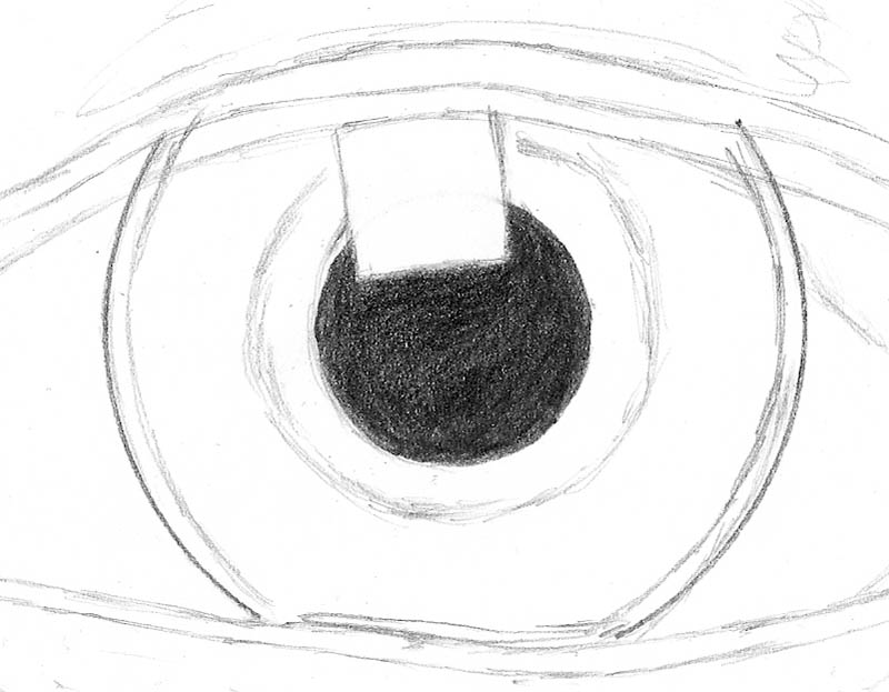 how to draw an eye 0201 pupil