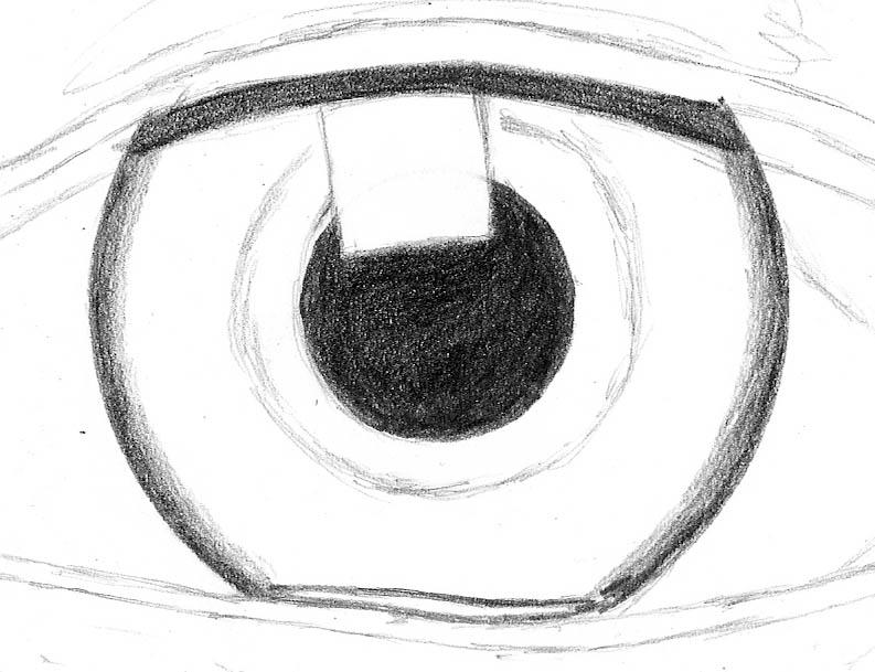 how to draw an eye 0202 iris border