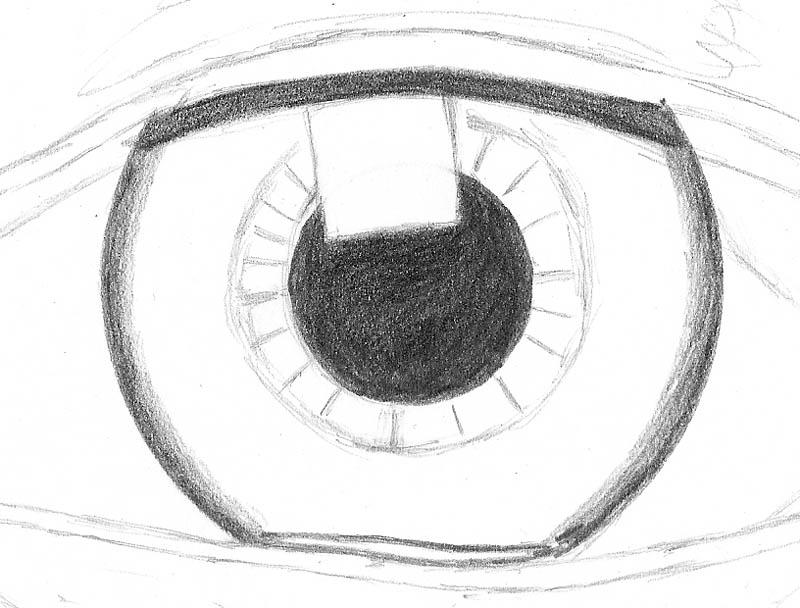 how to draw an eye 0203 iris inner