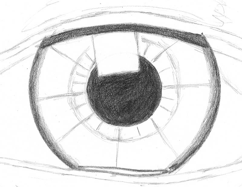 how to draw an eye 0204 iris inner to outer