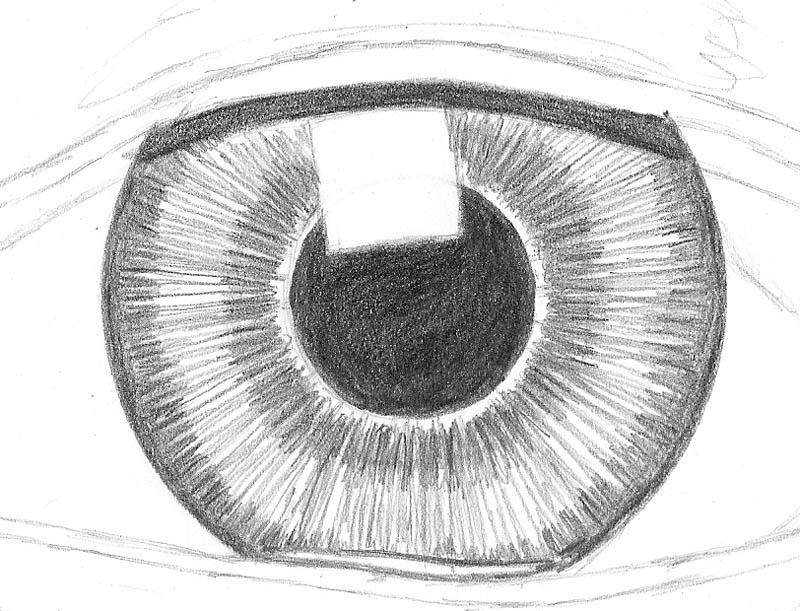 how to draw an eye 0208 iris dark outer