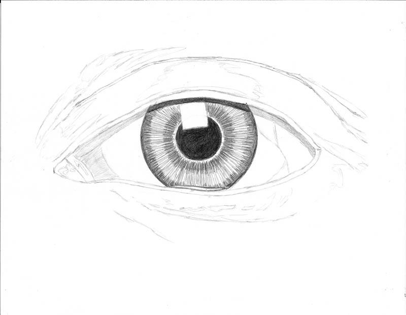 how to draw an eye 0209 white eye upper shadow