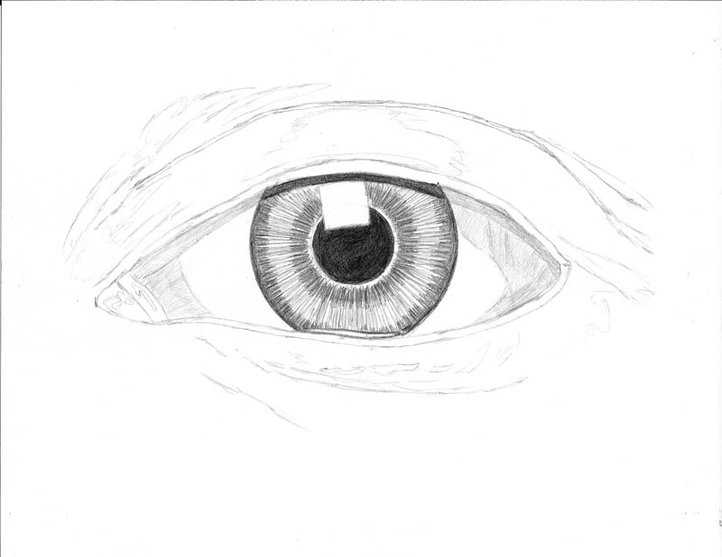 how to draw an eye 0210 white eye more shadow
