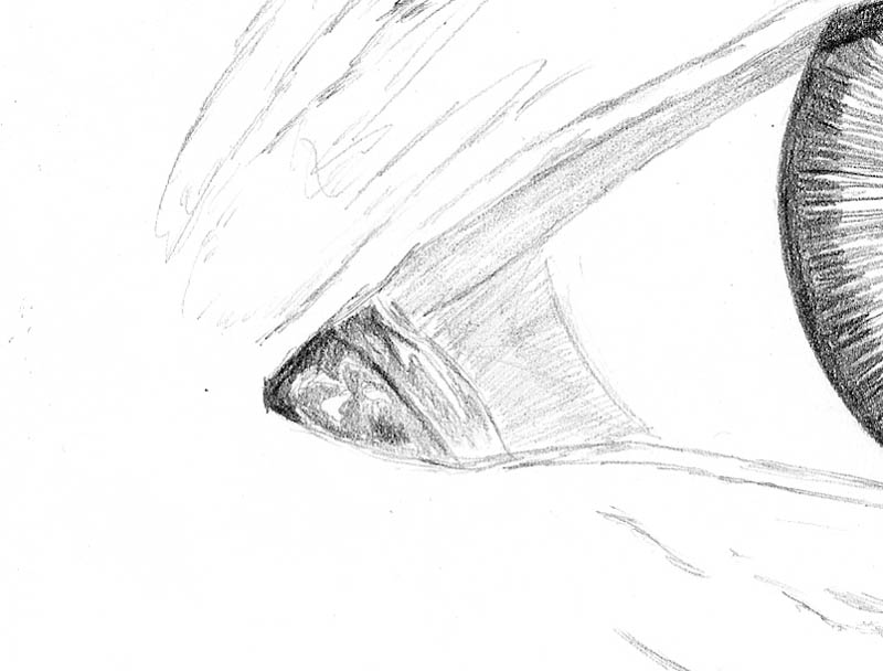 how to draw an eye 0211 white eye duct