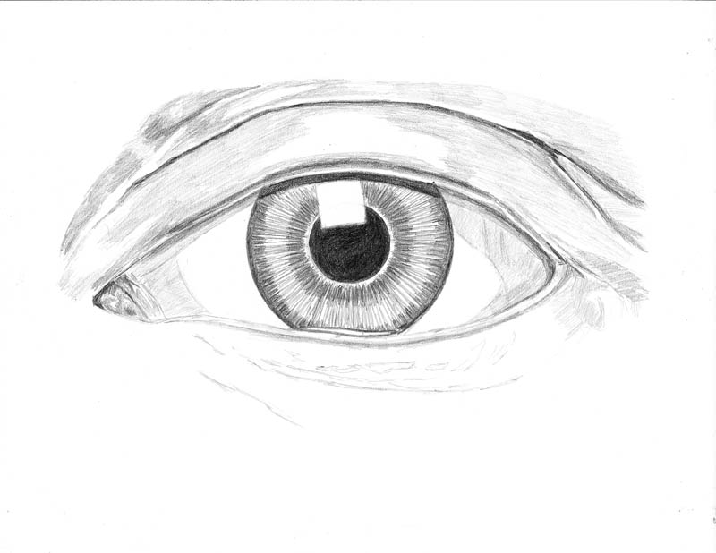 how to draw an eye 0215 upper eyelid