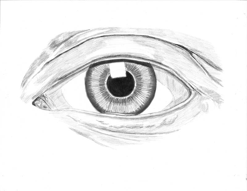how to draw an eye 0301 pupil