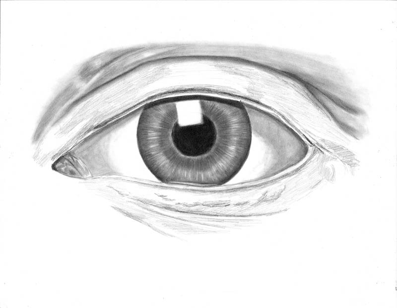 how to draw an eye 0305 above upper eyelid