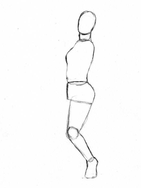 05 how to draw woman figure lower leg