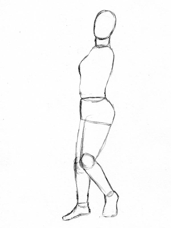 06 how to draw woman figure right leg