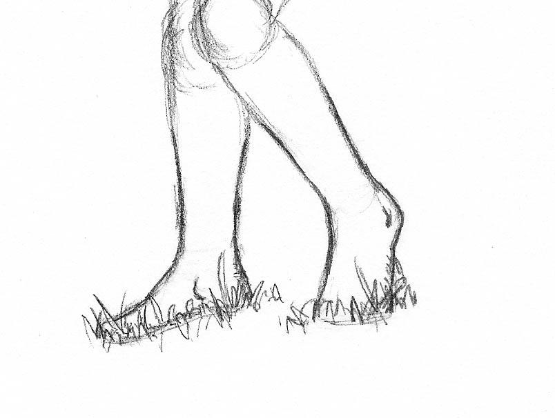 14 how to draw woman figure feet