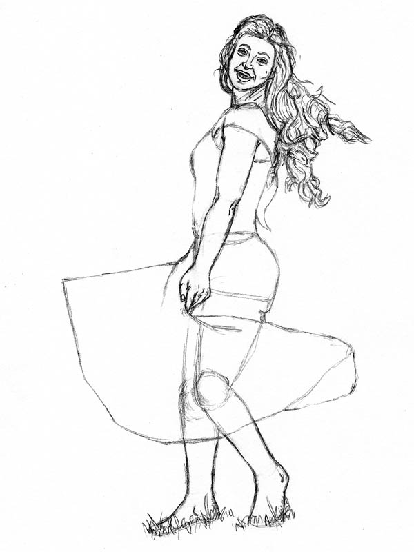 16 step by step how to draw a dress skirt
