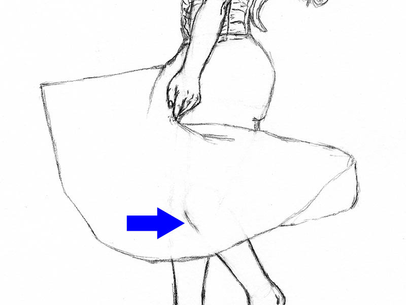 19 step by step how to draw a dress erase