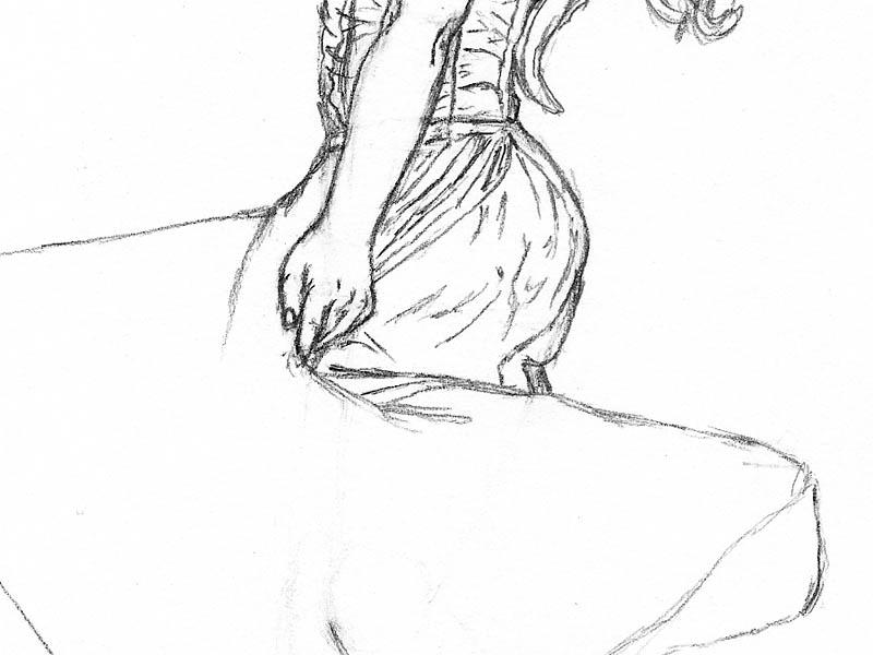 20 step by step how to draw a dress lower folds 1
