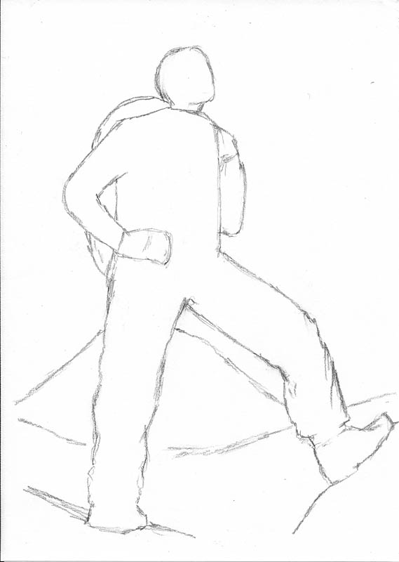 how to sketch a person 01 figure outline