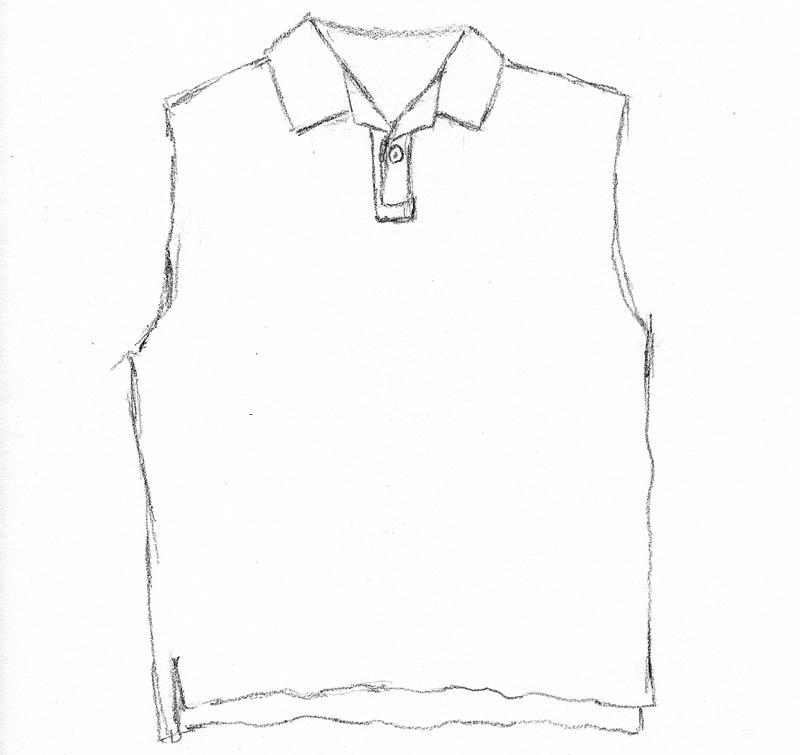 polo shirt sketch 02 torso